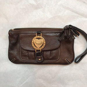 Juicy Couture Brown Soft Leather Wristlet
